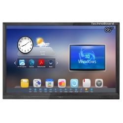 Интерактивная панель TechnoBoard HV-84 (86'', UHD 4K, Intel i5-7500, SSD 256Гб, RAM 8Гб, Windows 10 + Android)